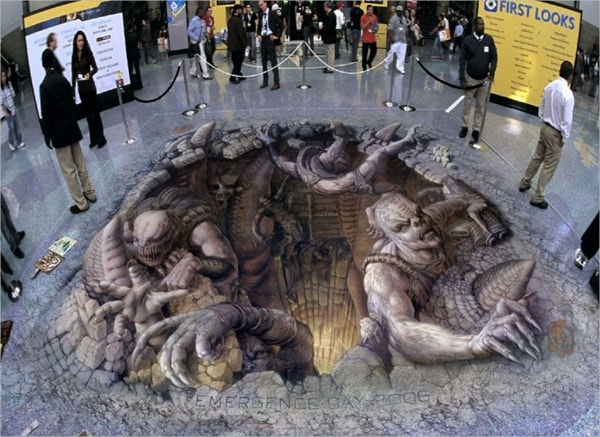 3D Street Art Working Commercially