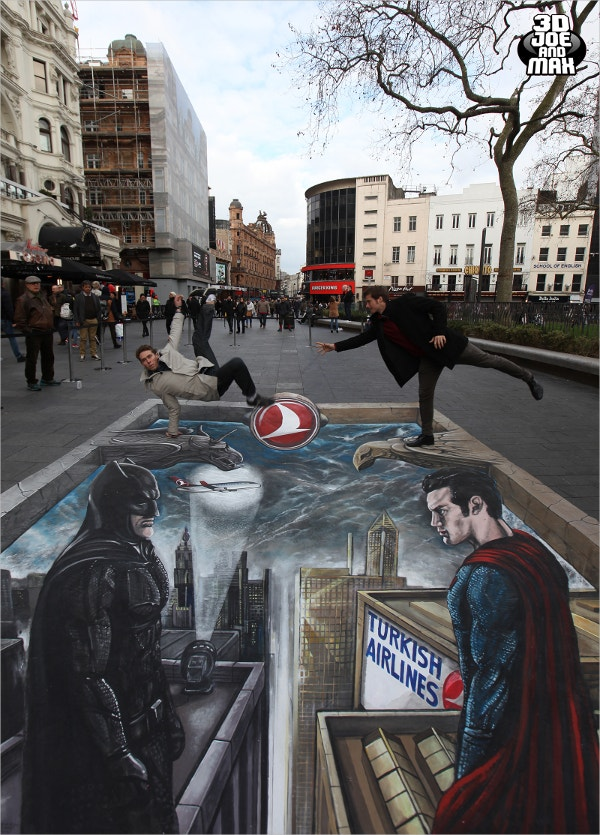 batman vs superman 3d art