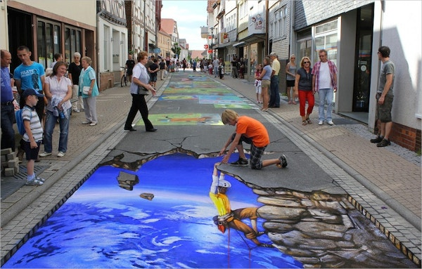we love 3d street art