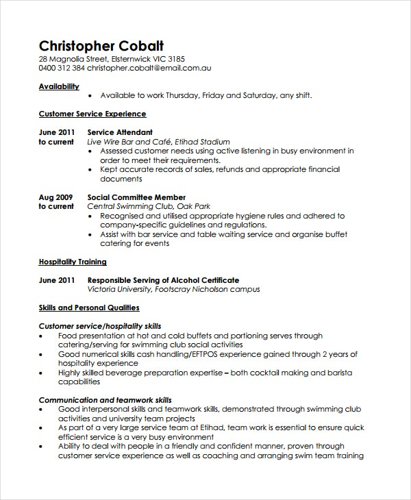 working resume template - Work Resume Template