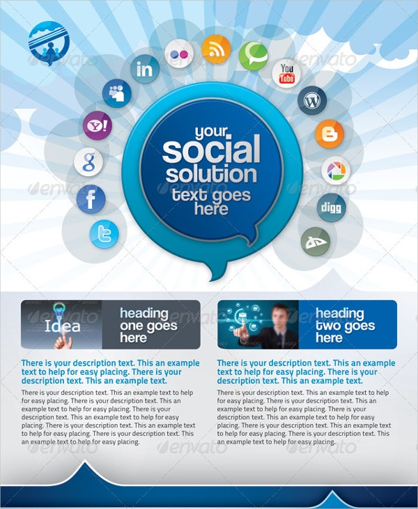 social media business flyer