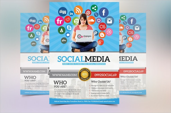 multipurpose social media marketing flyer