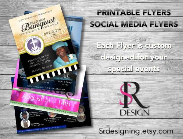 printable social media flyers