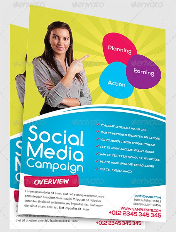 20 social media flyers free psd ai eps format for Marketing brochure templates free