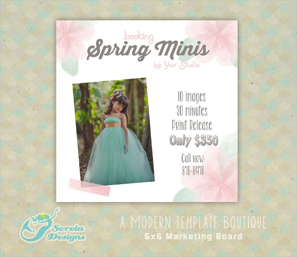 Spring Marketing Social Media flyer