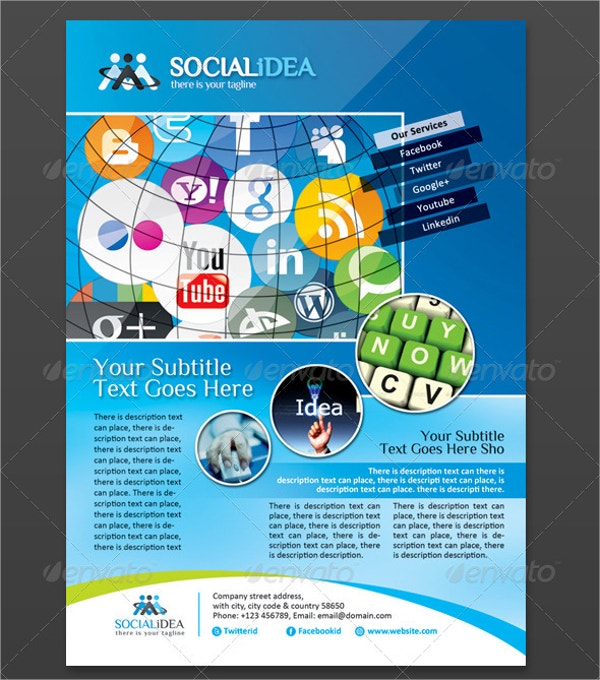 socialidea corporate social media flyer