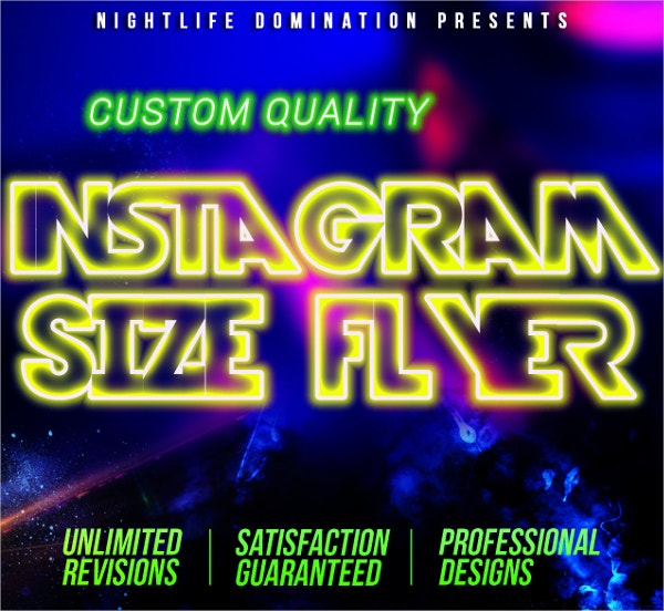 instagram social media size flyer