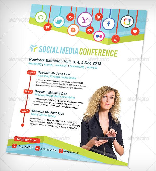 social media conference flyer