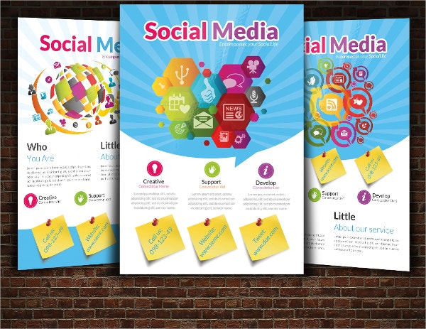 layout social media flyer template