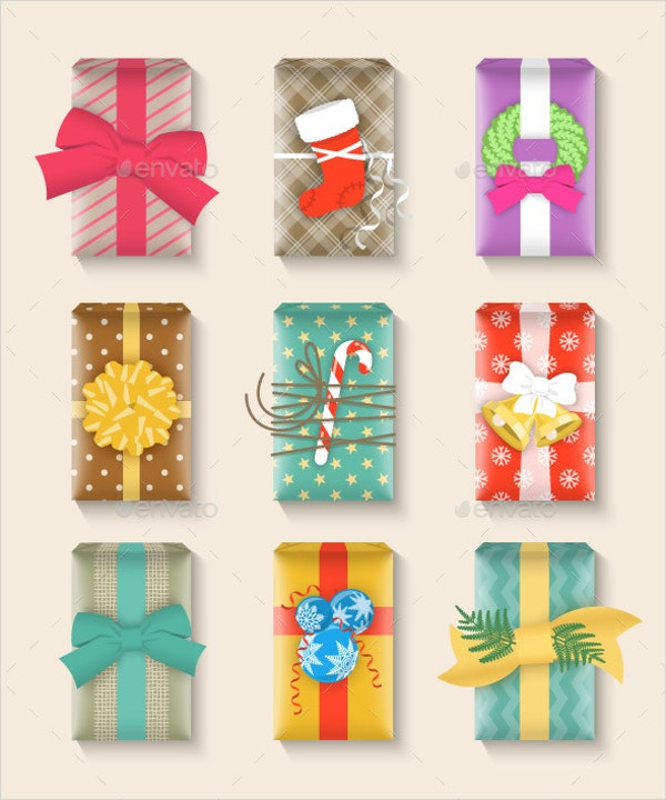 15 Paper Gift Box Templates Free EPS PSD AI Format Download – Template for Gift Box