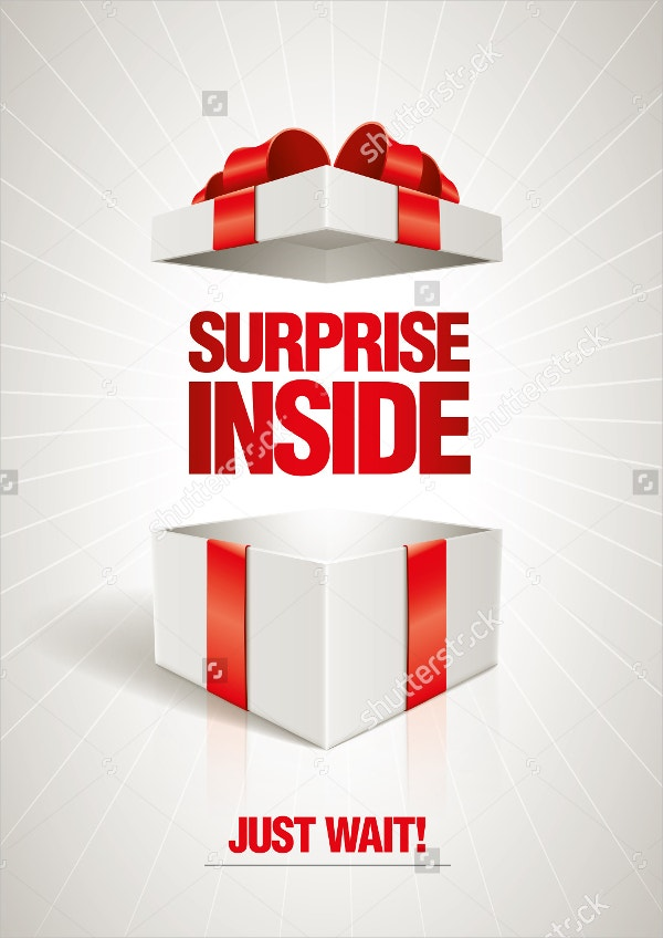 Surprise Paper Gift Box Template