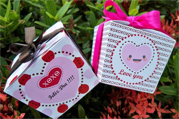 Candy Paper Gift Box Template