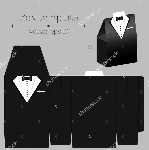 Vector Tuxado Paper Box Template