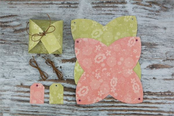 Handmade Paper Gift Box Template