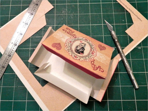 Valentine Paper Gift Box Template