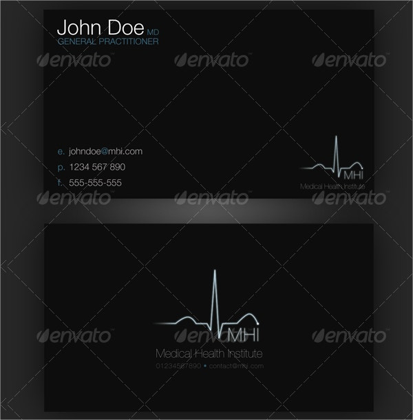 professional medical business card
