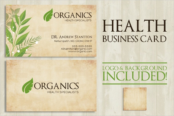 health business card
