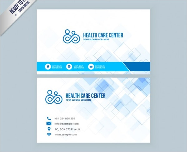 health care business card free vector