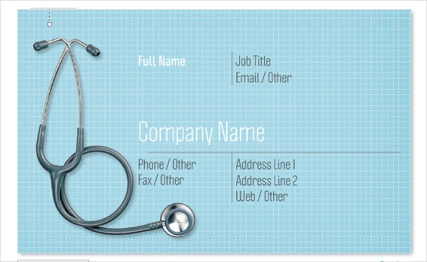 Editable Medical Business Card Template