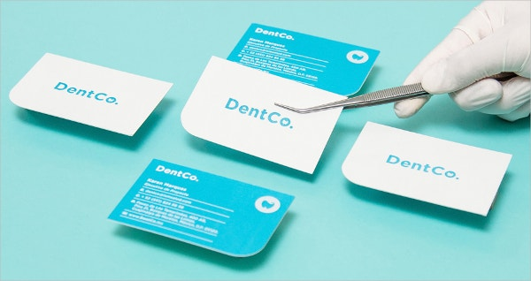 blue medical business card template
