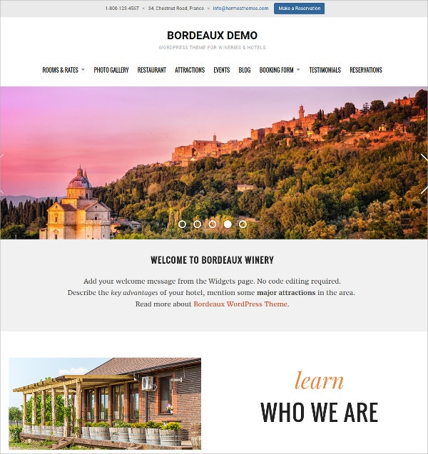 Responsive Hotel WordPress Theme