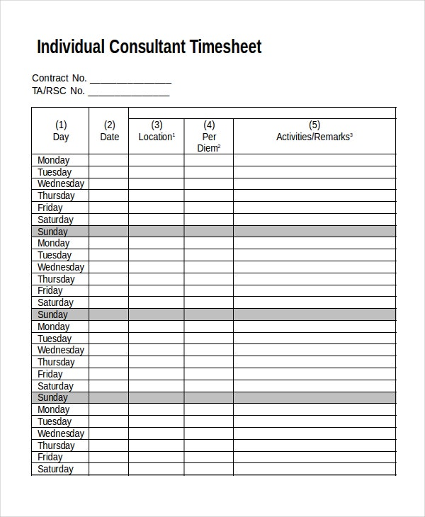 Attorney Billing Timesheet Templates – Hardhost.Info