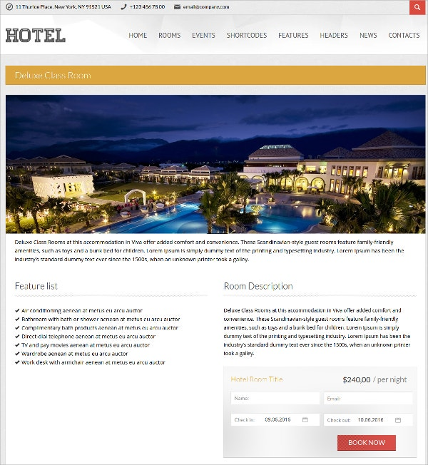 Design Hotel WordPress Theme
