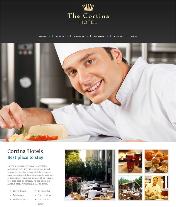 Hotel & Resort WordPress Theme $59