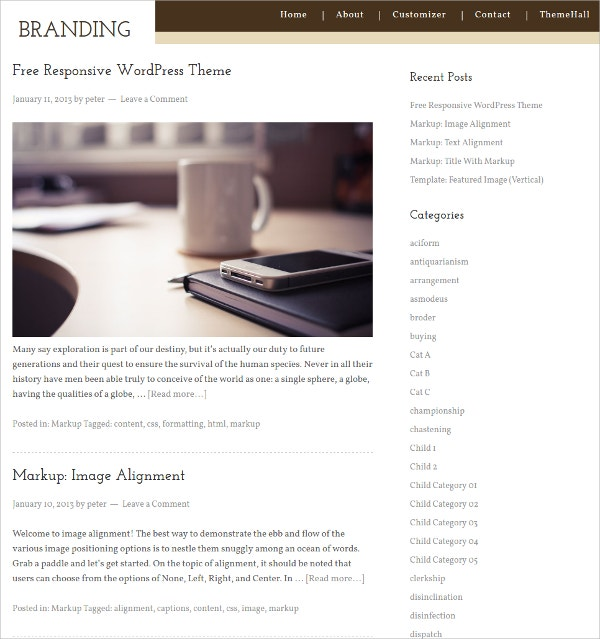 Simple Hotel WordPress Theme