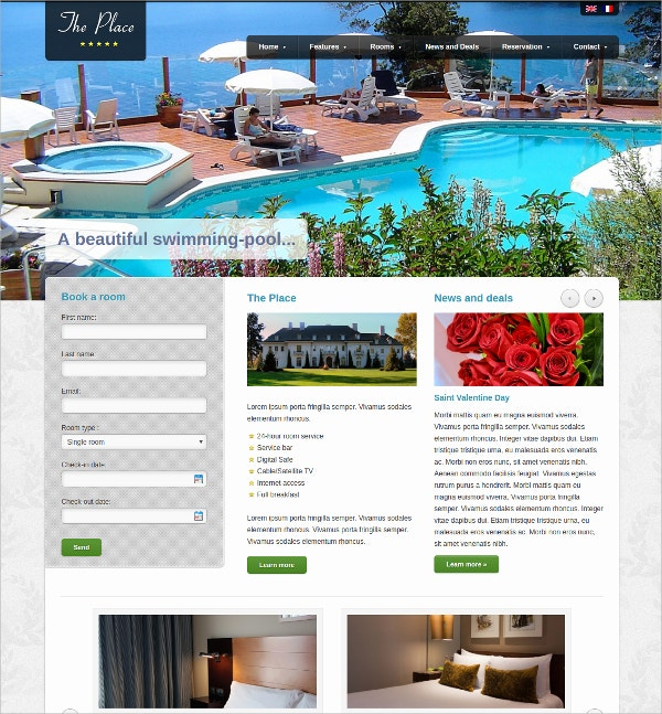 Hotel & Guesthouse WordPress Theme $49