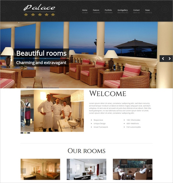 WordPress Hotel & Travel Theme $69