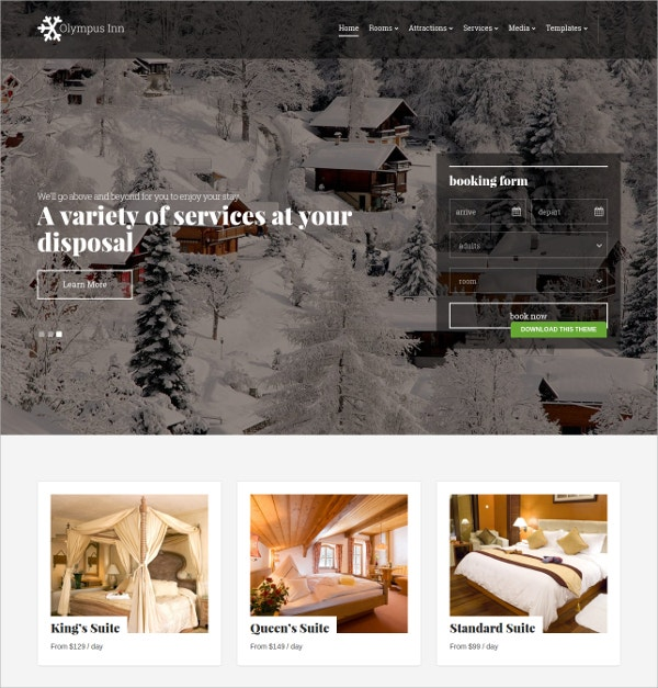 Beautiful Responsive Hotel WordPress Theme