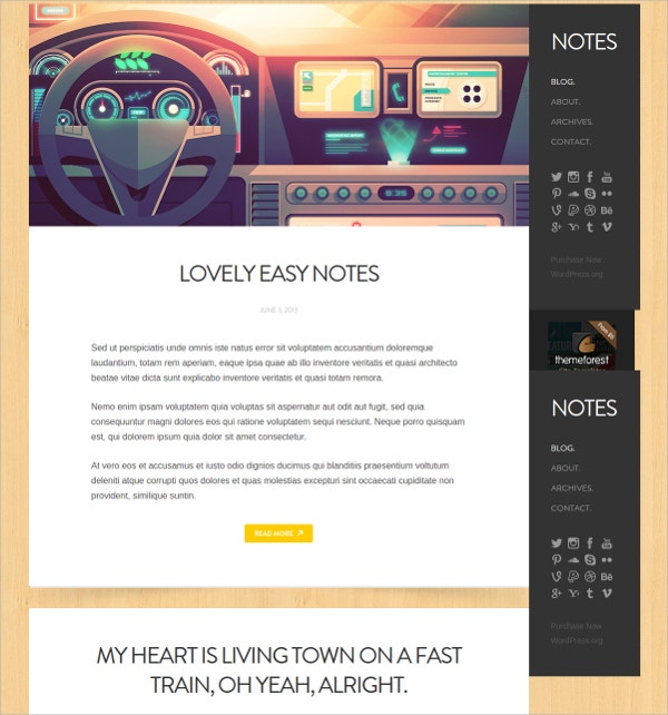 simple personal wordpress website theme 39