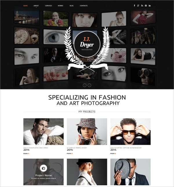 photographer personal website template 69