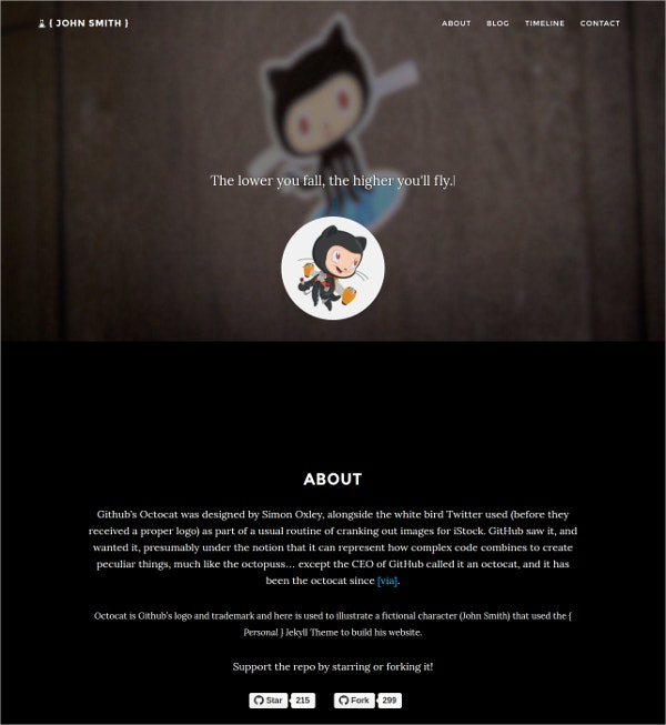 Free Personal Jekyll WordPress Webite Theme