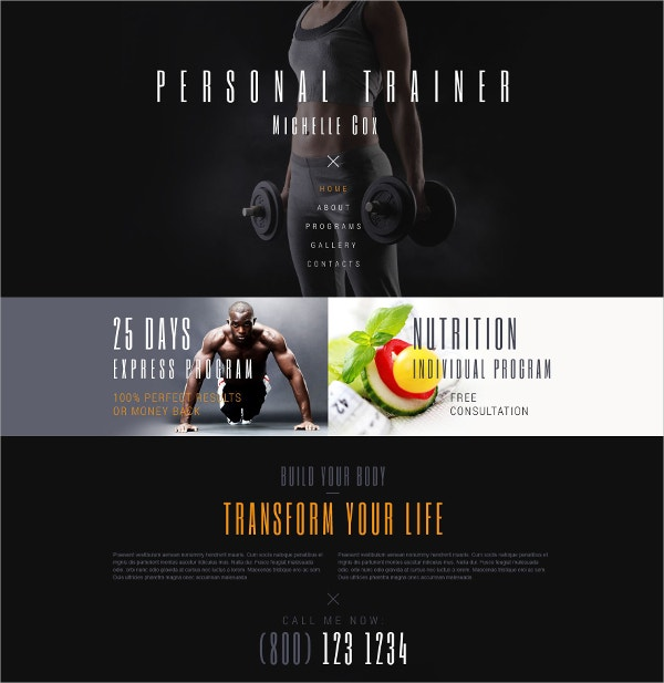 sport personal website template 75