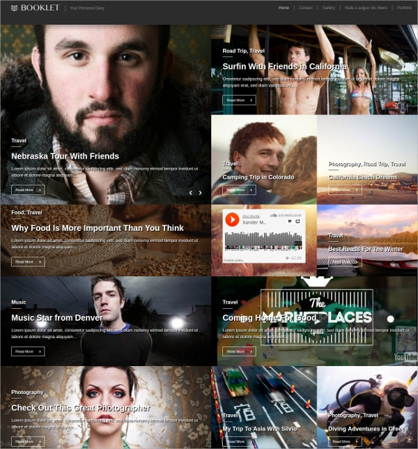 Innovative Personal Blogging Website Theme $49