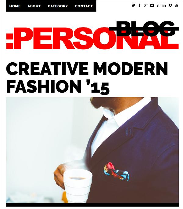 Modern Fashion Personal WordPress Website Theme