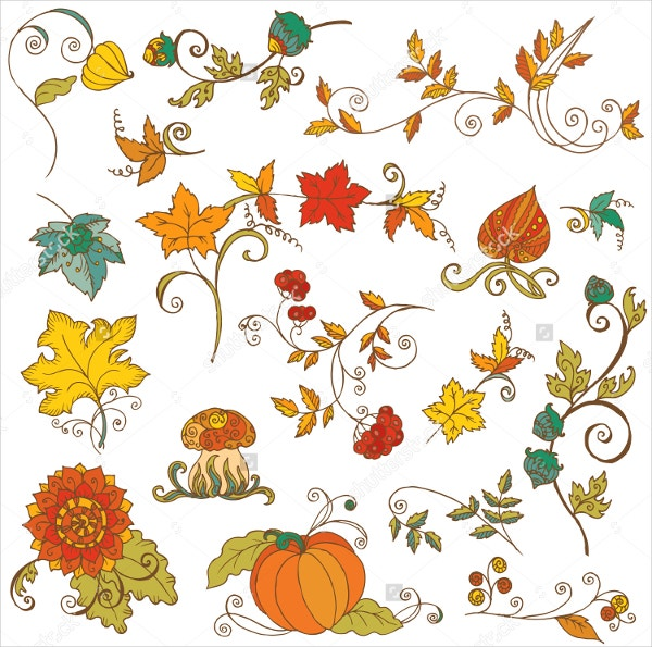 Pumpkin Leaf Pattern