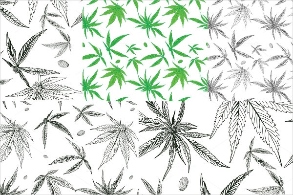 15 leaf patterns psd ai vector eps free premium for Weed leaf template