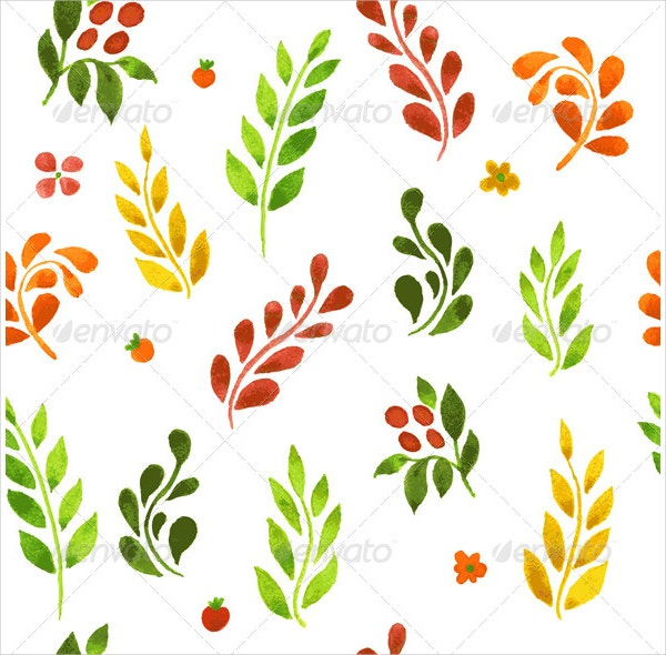 color leafs pattern
