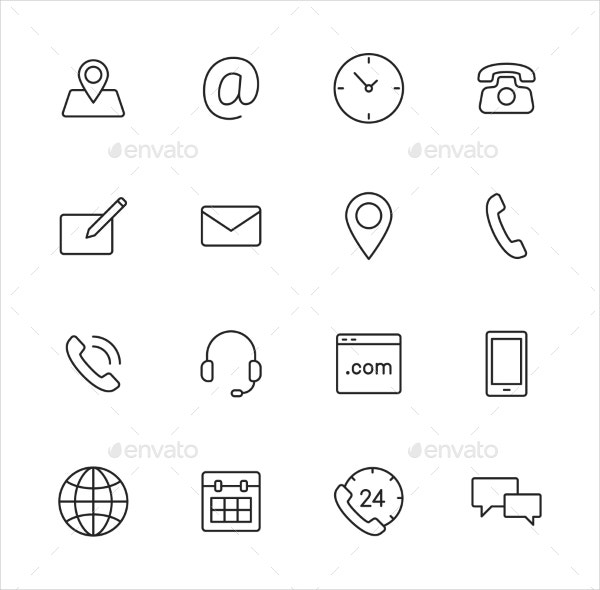 20  contact us icons