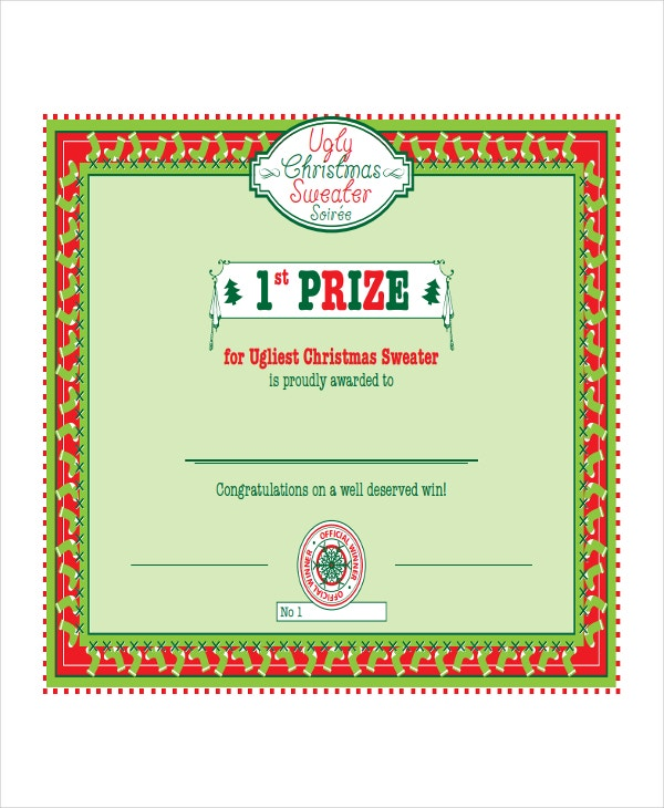Winner certificate template 9 free pdf document for First prize certificate template