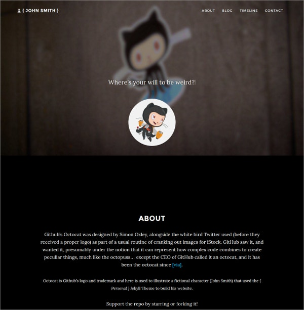Personal Jekyll Website Theme