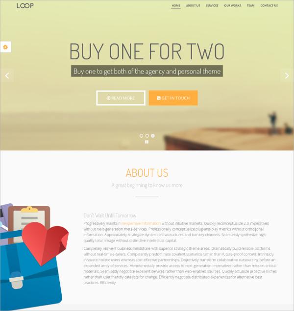 Personal Botstarp Portfolio Website Theme