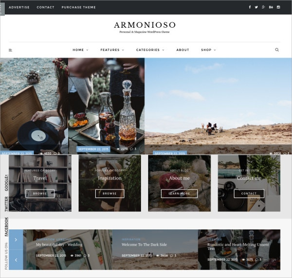 Personal & Magazine WordPress Website Theme $49