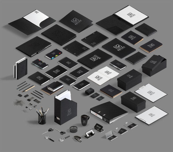 Isometric Stationery Mock Up Design