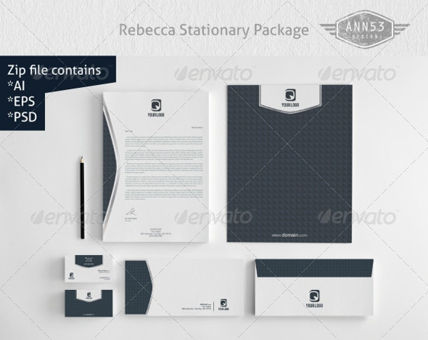 Beautiful Rebecca Stationery Design