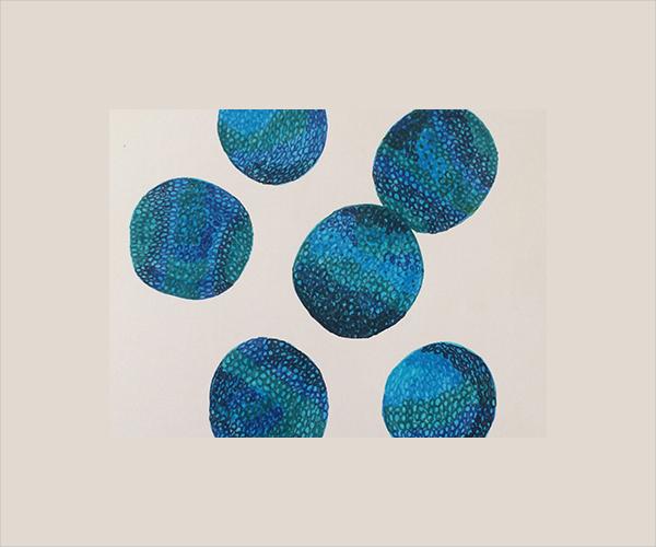 Green Blue Circle Pebble Texture
