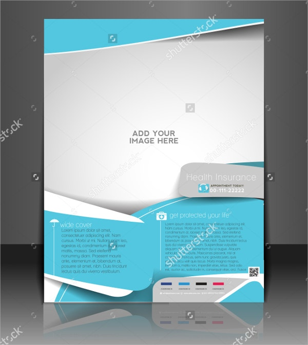 vector insurance brochure template